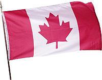 Drapeau du Canada qui a servi de propagande