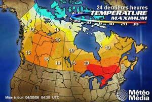 La température en ce 19 avril 2006