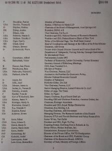 Liste des participants à la conférence Bilderberg à Ottawa en 2006