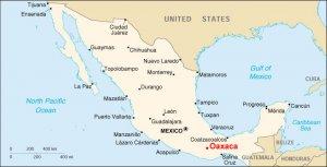 Carte de Mexico et d'oaxaca