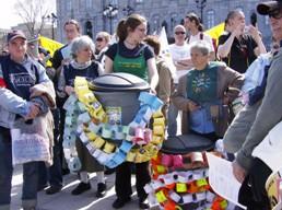 Des poubelles aux parlement