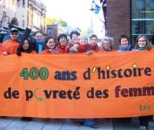400 ans d'histoire de pauvreté des femmes