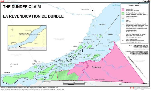 Le territoire de Dundee réclamé par les Mohawks d'Akwesasne