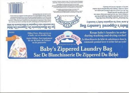 Sac de blanchisserie de Zippered du Bébé