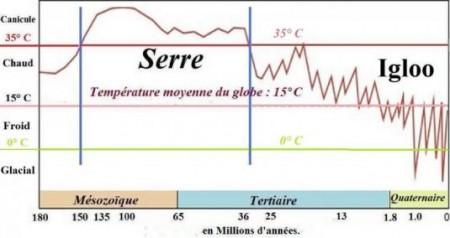 Évolution de la température terrestre