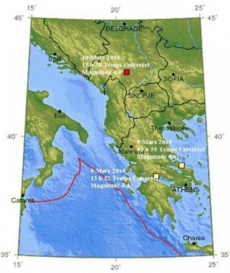 Tremblement de terre en Serbie et au Monténégro