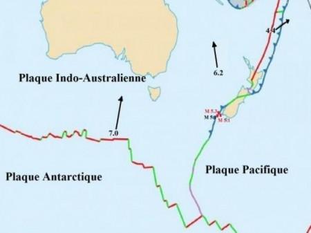 Plaques tectoniques en Océanie