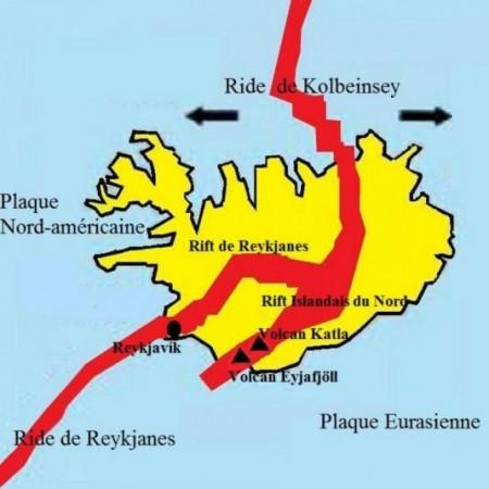 Plaques tectoniques en Islande