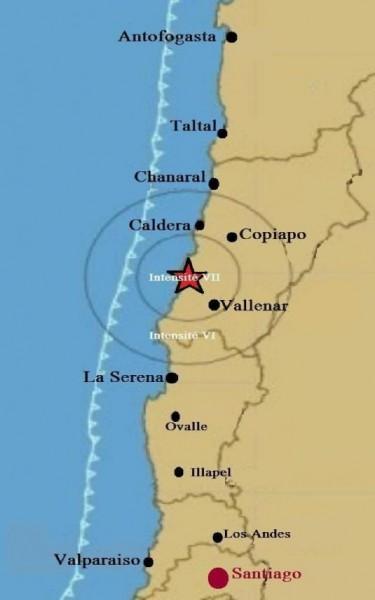 Intensité du tremblement de terre