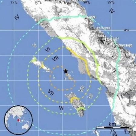 Épicentre du tremblement de terre