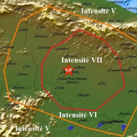 Tremblement de terre en Papouasie Nouvelle-Guinée