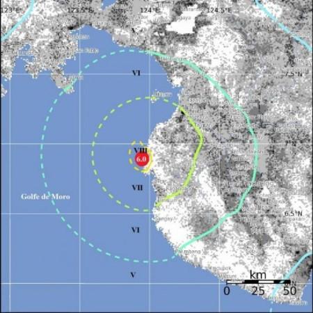 Tremblement de terre dans le golfe de Moro