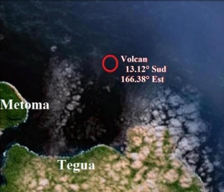 Volcan sous-marin dans l'archipel de Torres