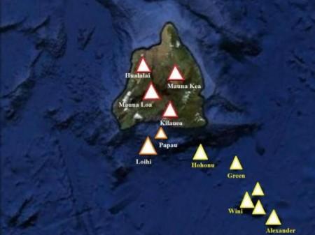 Les volcans à Hawaï