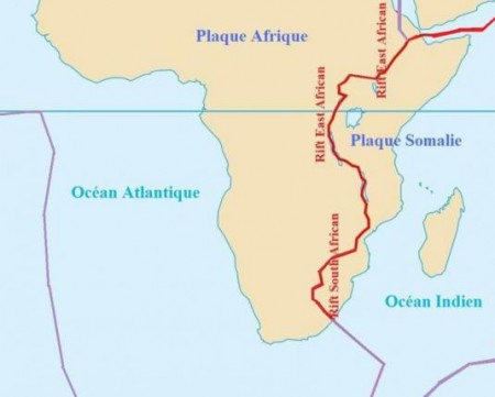 Plaques tectoniques en Afrique du Sud