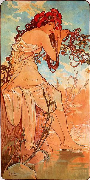 Alfons Mucha – 1896 – Summer