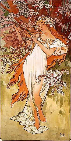 Alfons Mucha – 1896 – Spring