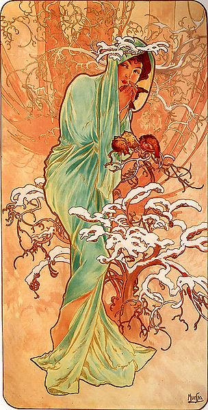 Alfons Mucha – 1896 – Winter