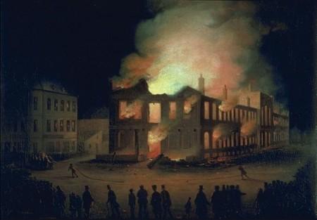 Incendie du Parlement à Montréal en 1849