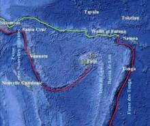 16 Août 2010 : Un séisme de magnitude 6.2 et le volcanisme sous-marin aux îles Fidji
