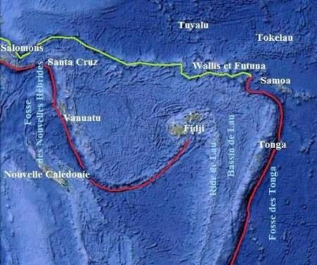 Fosses dans le Pacifique