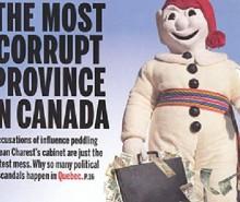 Le Maclean's sur la corruption au Québec: fédéraliste et raciste