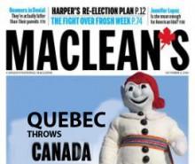 La toute dernière édition du Maclean's (Une primeur)