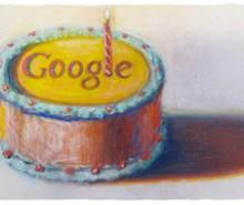 Google: un gâteau pour son 12ème anniversaire