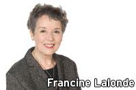 Francine Lalonde annonce son départ du Bloc Québécois