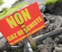 Un moratoire sur l'exploitation des gaz de schiste est nécessaire