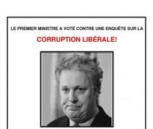 Campagne d'affichage anti-libérale: le coupable est Jean Charest