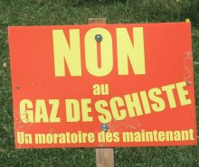 Gaz de schiste: 76% des Québécois souhaitent la suspension de l'exploration