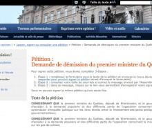 Pétition contre Jean Charest: problème d'accessibilité au site résolu