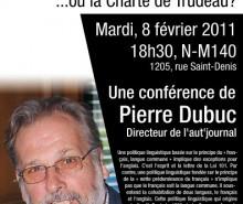 Conférence: La Charte de la langue française, ou la Charte de Trudeau?