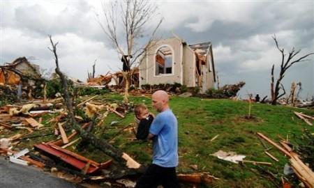 Enfant sauvé lors d'une tornade