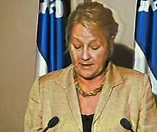 Déclaration de Pauline Marois en réaction au départ de trois députés