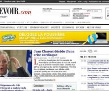 Le Devoir annonce la mort de Jean Charest