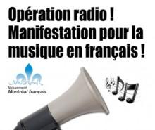 Non-respect des quotas de musique francophone: manif-éclair devant CKOI
