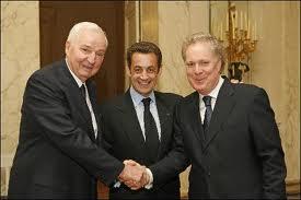 Paul Desmarais, Nicolas Sarkozy et Jean Charest