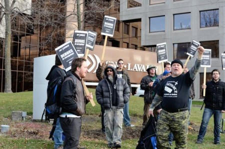 Occupation du RRQ à SNC Lavalin