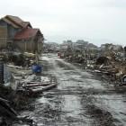 Une zone dévastée de l'île de Sumatra