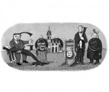 Charles Addams: Google souligne le centenaire de Charles Addams