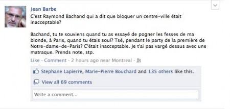 Jean Barbe répond à Raymond Bachand