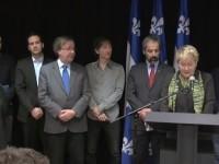 Pauline Marois présente les membres du Comité sur la souveraineté