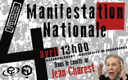 Manifestation 4 avril Sherbrooke