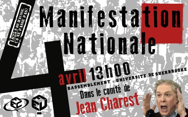 Manifestation 4 avril Sherbrooke