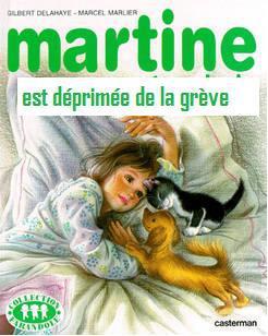 Martine est déprimée de la grève