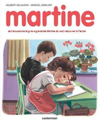 Martine est écoeurée de la grève