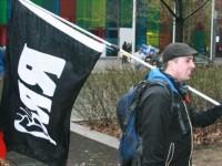 Manifestation conjointe du RRQ et d'InnuPower contre le Plan Nord