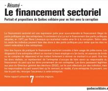 Québec solidaire vise le financement illégal de partis politiques